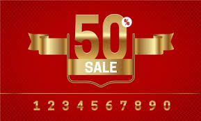 ribbon for sale 3d sale clearance banner with ribbon and numbers vectors stock in