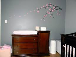 Changing Table Cherry Baby Changing Table In The Nursery With Cherry Blossom Wall Decal
