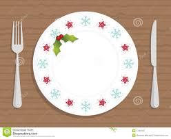 christmas plate christmas plate stock vector illustration of dinner 17357525