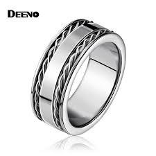 mens spinner rings men finger ring stainless steel swivel chain spinner rings