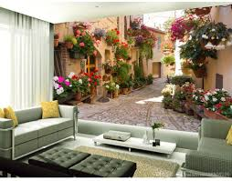 Wall Murals 3d European Garden Alley Sofa Background Wall Tv Wall Murals Mural 3d