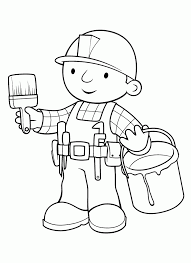 printable bob builder coloring pages kids free coloring
