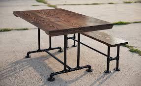 Industrial Dining Room Tables Industrial Dining Tables Emmorworks
