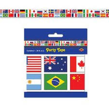 Australian Themed Decorations - this international flag banner features flags from across the