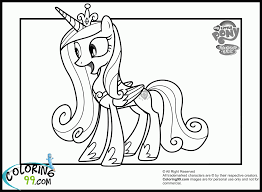 pony princess cadence coloring pages funycoloring