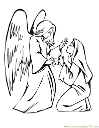 001 angels 2 coloring page free religions coloring pages