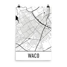 map waco waco map waco waco print waco tx poster waco