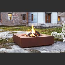 Outdoor Firepit Gas Caldera Cor Ten Steel Modern Outdoor Firepit Paloform
