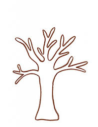 tree trunk coloring page 9047