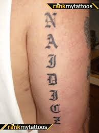 last name tattoos on back tattoo collections