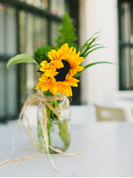 sunflower wedding decorations using sunflowers to decorate your wedding