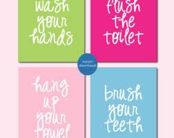Bathroom Quotes For Walls Bathroom Wall Quotes Etsy