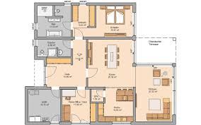 Haus Grundriss Bungalow Bauen Barrierefreies Wohnen Kern Haus