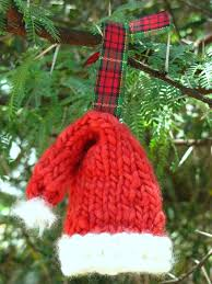 knitted santa hat ornament pattern suburbia