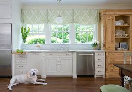 Blinds For Triple Window Modern Window Treatments Kitchen Traditional With Balloon Shades