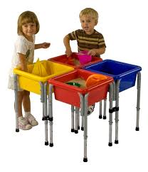 Toddler Water Table Ecr4kids Four Station Square Sand U0026 Water Table With Lids