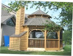 screened gazebo on deck diy plans outdoor 4703 interior decor