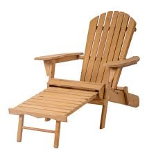 Pull Out Ottoman Outdoor Wood Adirondack Chair Foldable W Pull Out Ottoman Patio