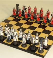 Cool Chess Sets Resin Crusades Chess Set Newcentco Board Games
