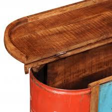 impressive reclaimed solid wood sideboard storage bench vidaxl