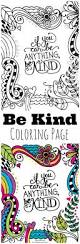 whimsical be kind print kids colouring free printable and printing