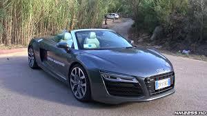 audi v10 convertible 2014 audi r8 v10 spyder s tronic start up revs and engine sound