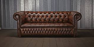 Leather Sofa Styles Classy Second Hand Vintage Brown Leather Sofa In Home Design