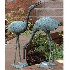 sandhill crane statues wayfair