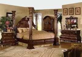 4 post bedroom sets 5 pc princess anne ii collection cherry brown wood finish queen 4