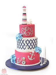 lighthouse cake topper nautical themed bat mitzvah cake bat mitzvah cakes