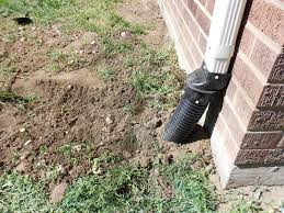 how to bury a gutter downspout french drain backyard projects