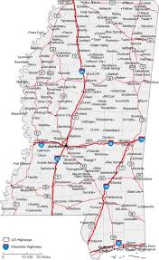 State Map Of Mississippi by Mississippi State Road Map With Census Information