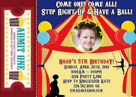 carnival birthday party invitations cloudinvitation com