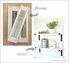 knock off ballard designs repurposed shutters bathroom shelf