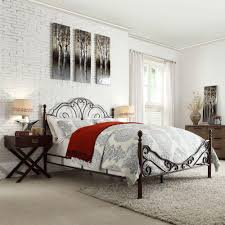 Iron Frame Beds by Homesullivan Valencia Bronzed Black U0026 Cherry King Poster Bed