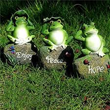 coolplus frog garden decor statue outdoor patio