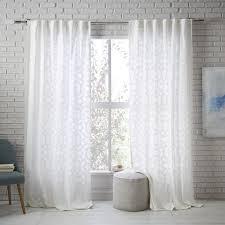Lattice Design Curtains Semi Sheer Lattice Curtain West Elm