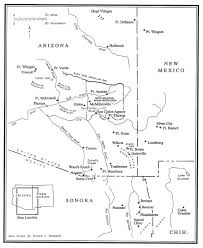 Arizona Rivers Map by 19th Century Arizona Maps
