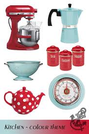 Pink Retro Kitchen Collection Blue Colour Themes For The House Red Kitchen Kitchen Colors And