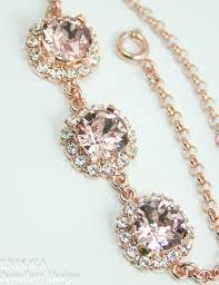rose gold swarovski crystal bracelet images Crystal bracelet blush pink bracelet swarovski crystal bracelet jpg