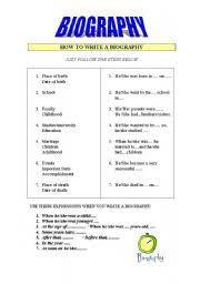 english teaching worksheets biographies