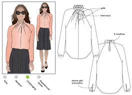 blouse sewing patterns rosemary blouse style arc