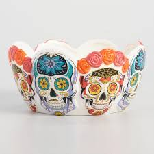 ceramic skeleton ring holder images Los muertos ceramic candy bowl world market tif&a