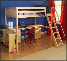 Loft Bed With Computer Desk Wooden Loft Bed With Desk Most Recommended Space Available