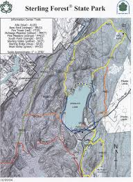 Nyu Map Sterling Forest Hiking Trail Map