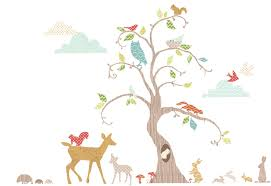 fun to see wall art stickers with a woodland theme