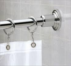 Curtain Rod Screws Inspiration Amazing Shower Curtains Rounded Curtain Rod Bathroom Inspirations