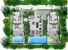 Courtyard Plans by Villa Floor Plan Sinalei