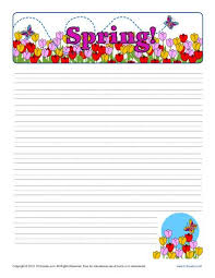 Printable Lined Paper Spring Printable Lined Writing Paper