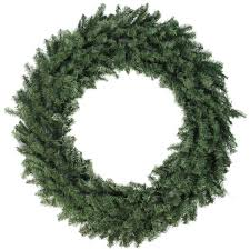 48 northlight canadian pine unlit artificial wreath